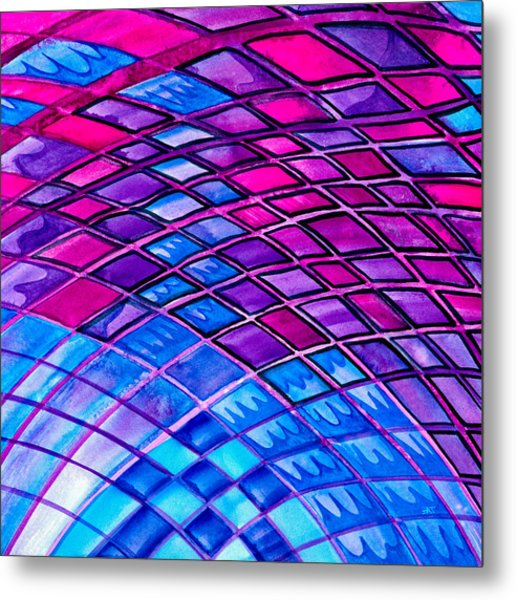 Diamonds And Lines Metal Print