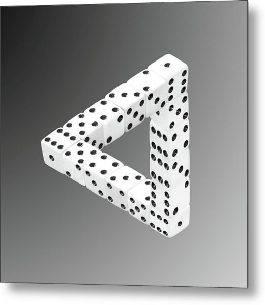 Dice Illusion Metal Print