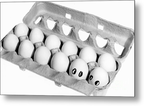 Did They Say Omelet Metal Print by Linda Drown