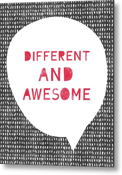 Different And Awesome Red- Art By Linda Woods Metal Print