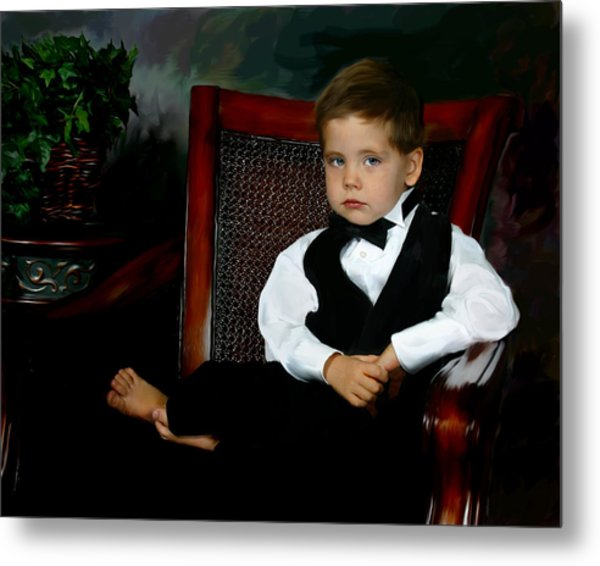 Digital Art Painting Of My Son Metal Print