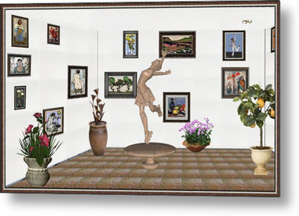 digital exhibition _ A sculpture of a dancing girl 14 Metal Print