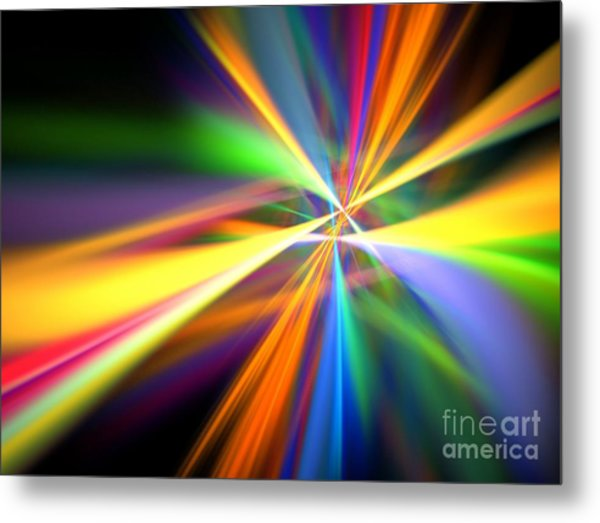 Digital Lightshow Metal Print