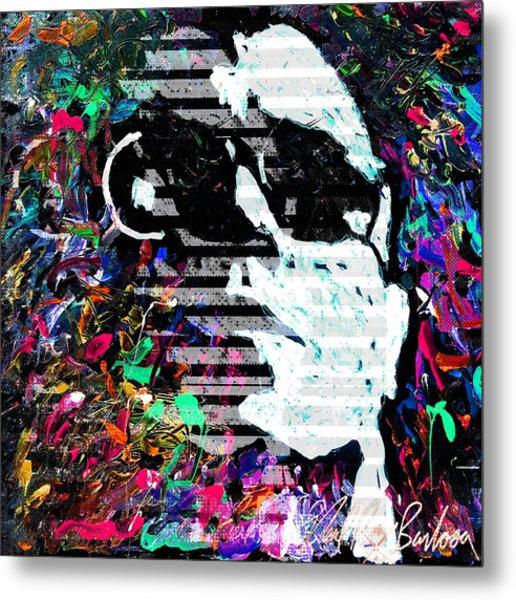 digital Lou Reed Metal Print