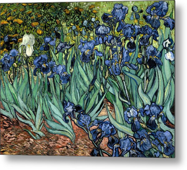 Digital Remix Irises Metal Print