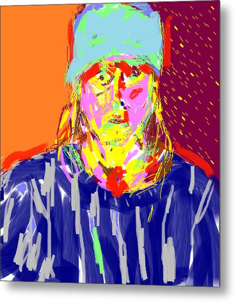 Digital Self Portrait Metal Print