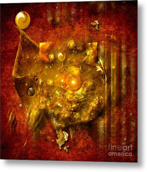 Dimension Hole Metal Print