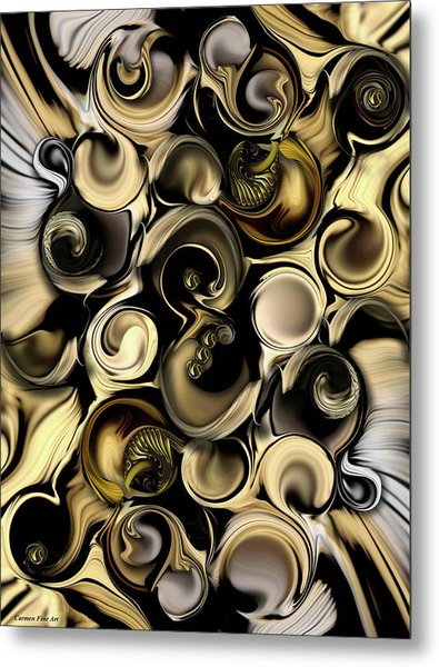 Dimension Vs Shape Metal Print