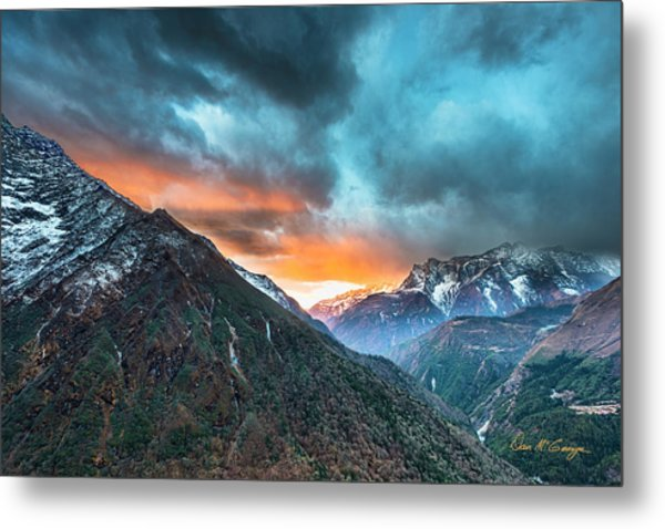 Metal Print featuring the photograph Dingboche Sunrise by Dan McGeorge
