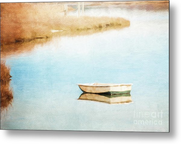 Dinghy In Eastham Metal Print