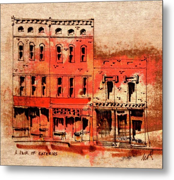Dining On Market Square Metal Print by William Renzulli