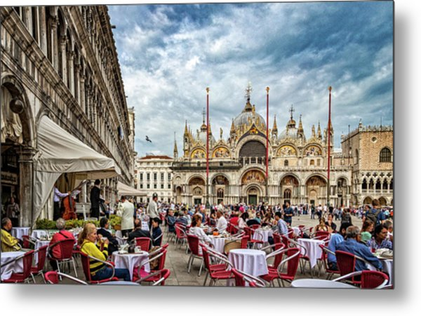Dining On St. Mark's Square Metal Print