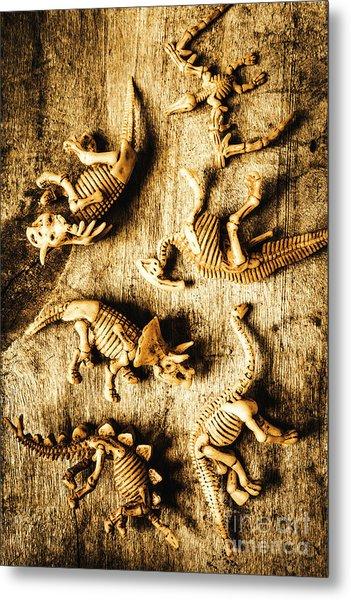 Dinosaurs In A Bone Display Metal Print