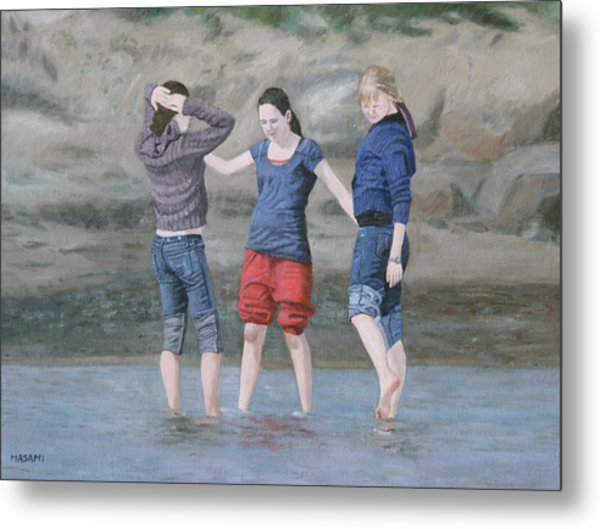 Dipping In The Water Metal Print