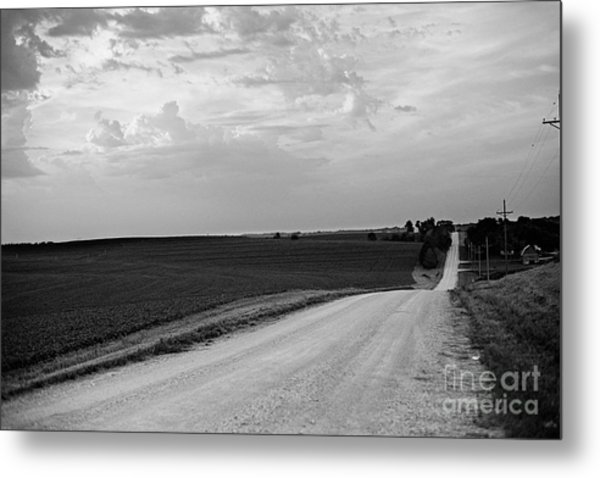 Metal Print featuring the photograph Dirt Road by Sandy Adams