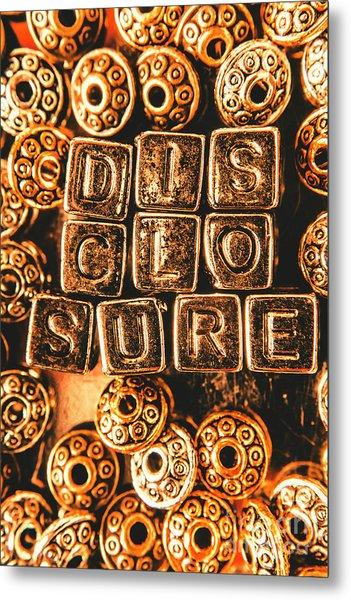 Disclosure Metal Print