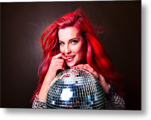 Disco Smile Metal Print