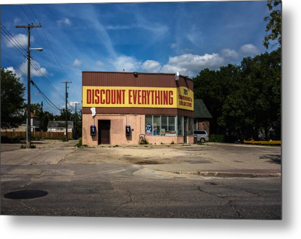 Discount Everything Metal Print by Bryan Scott
