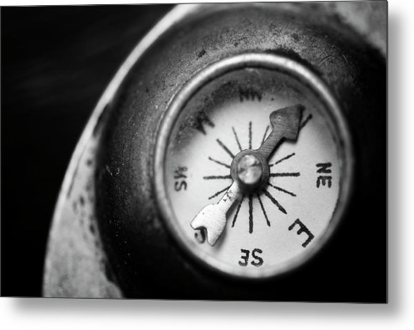 Discovering My Compass Metal Print