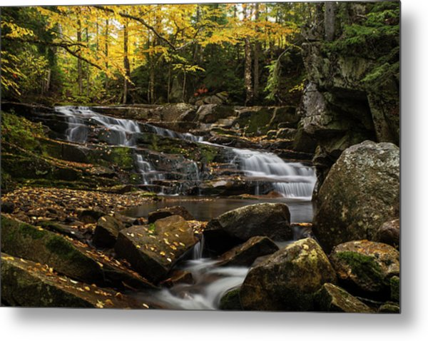 Discovery Falls Autumn Metal Print