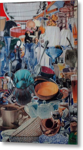 Dishparty Metal Print by Nancy Graham