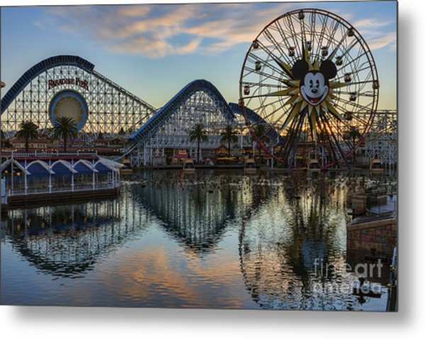 Disney California Adventure Reflections Metal Print
