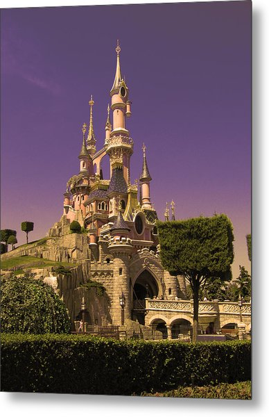 Disney Castle Paris Metal Print