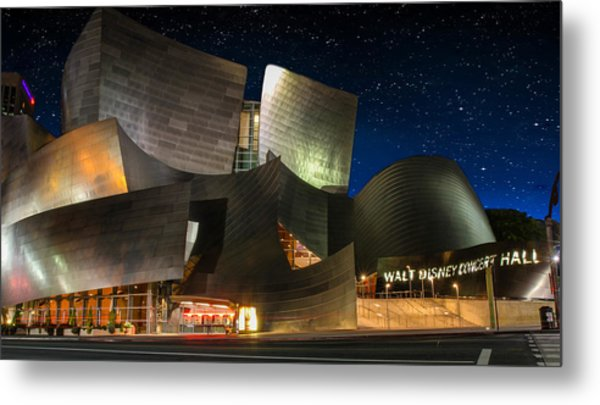 Disney Concert Hall Metal Print