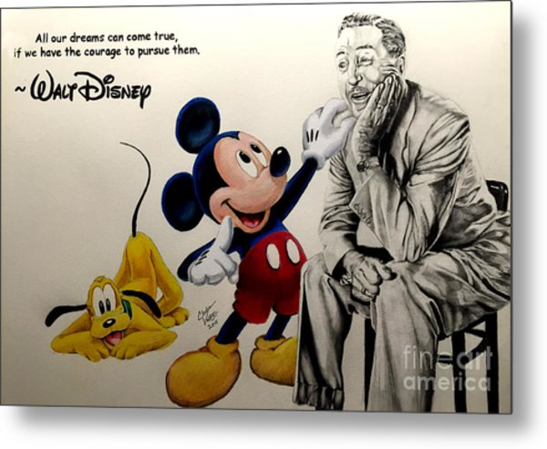 Disney- Dreams Come True Metal Print