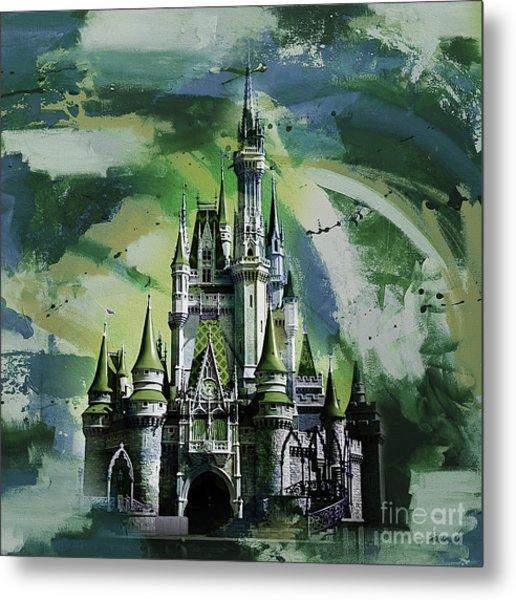 Disney World Cinderella Castle  Metal Print