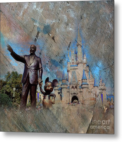 Disney World Metal Print