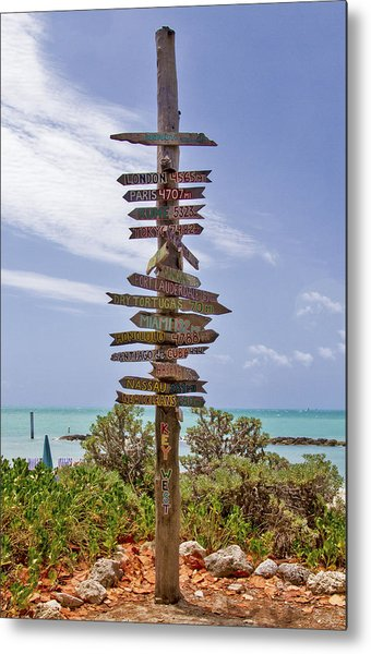 Distance From Key West Metal Print