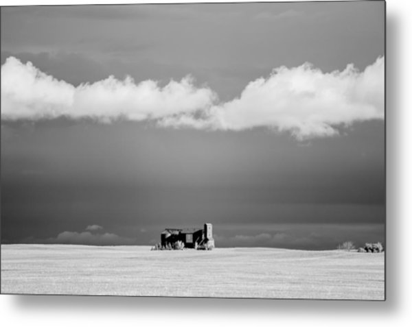 Distant Grain Elevator Metal Print