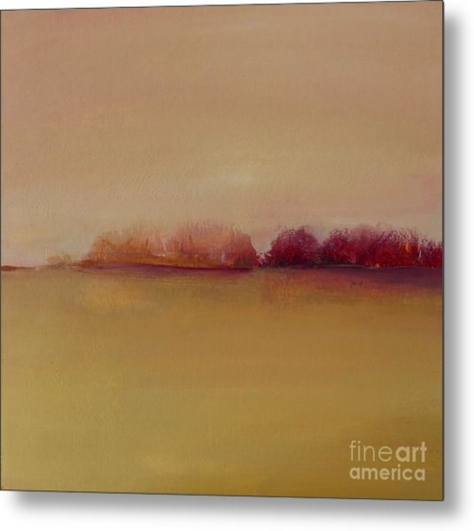 Distant Red Trees Metal Print