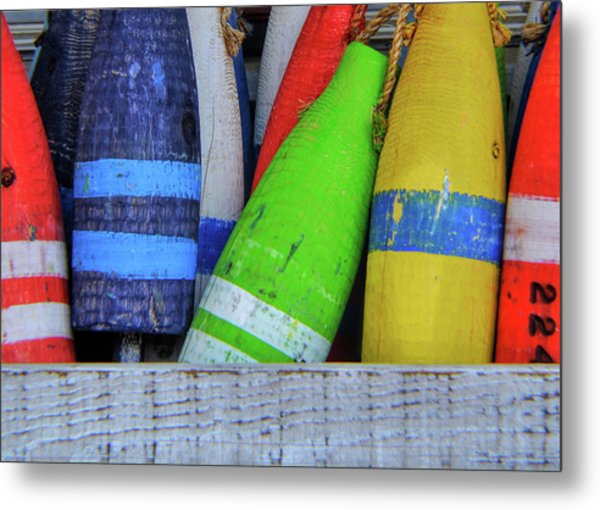 Distressed Buoy Metal Print by JAMART Photography