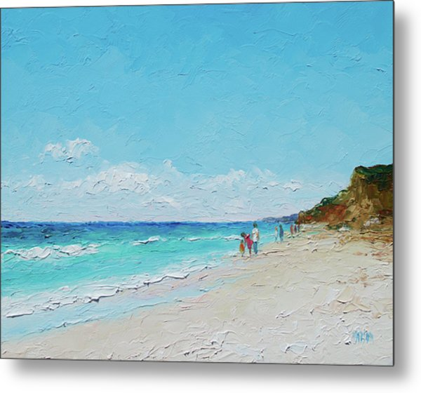 Ditch Plains Beach Montauk Hamptons Ny Metal Print