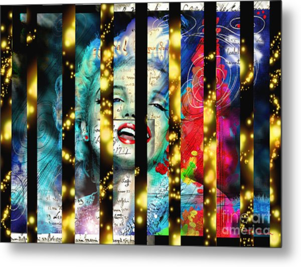 Diva A Star In Stripes Metal Print