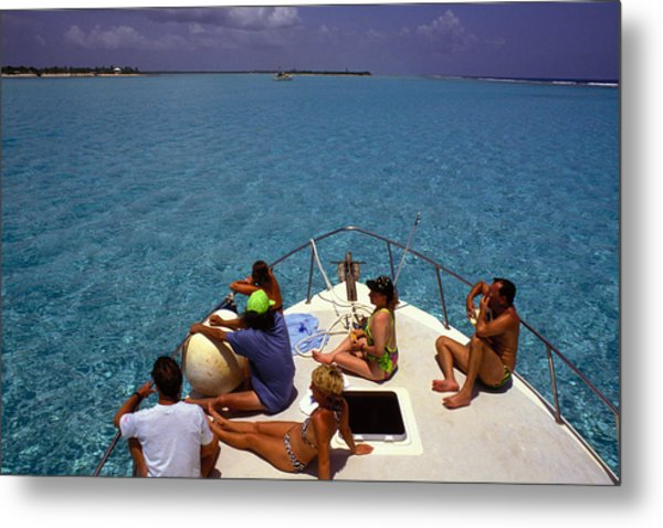 Diveboat At Little Cayman Metal Print by Carl Purcell