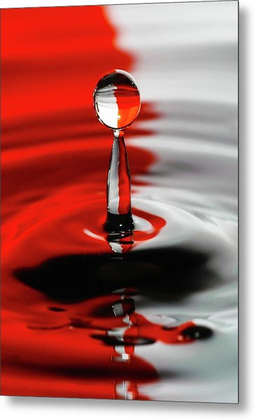Divided By Red Metal Print