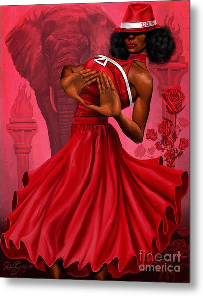 Divine Red And White Metal Print
