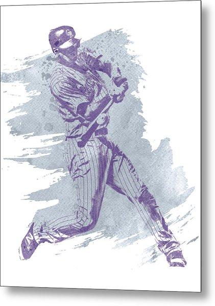 Dj Lemahieu Colorado Rockies Water Color Art 1 Metal Print