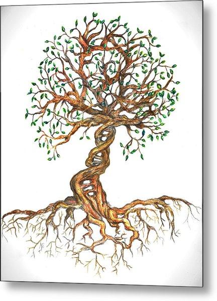 Dna Tree Of Life Metal Print