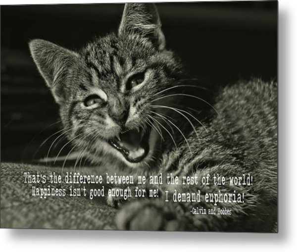 Do Not Start With Me Quote Metal Print by JAMART Photography