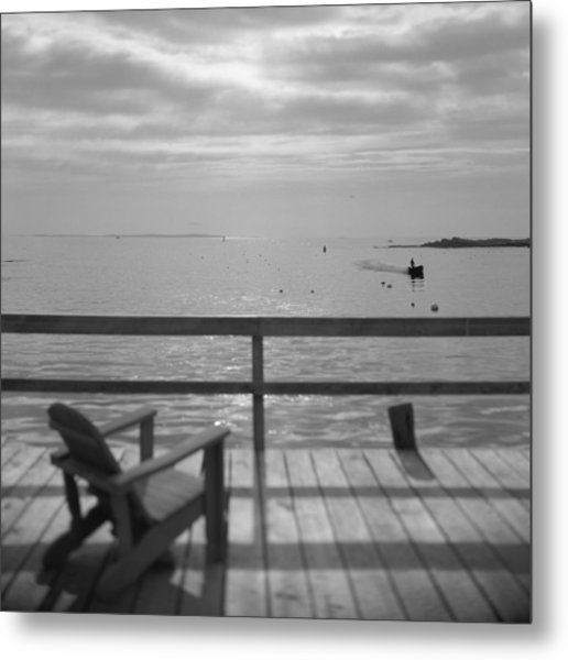 Dock And Chair Metal Print