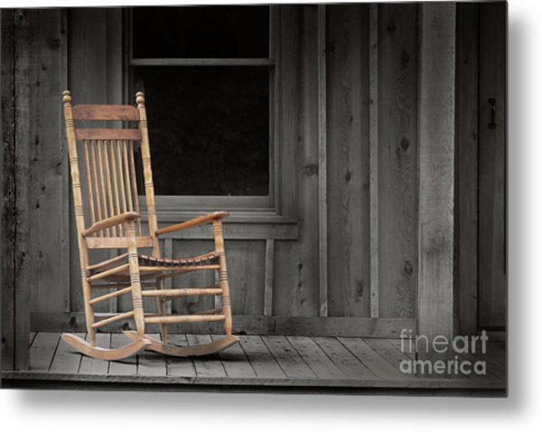 Dock Chair Metal Print