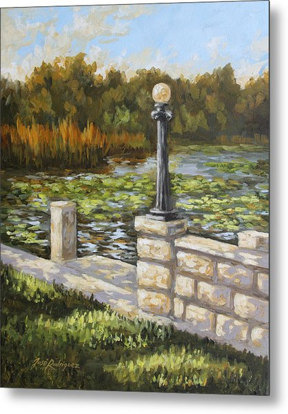 Dock Side Metal Print