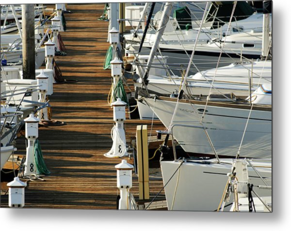 Dock Walk Metal Print