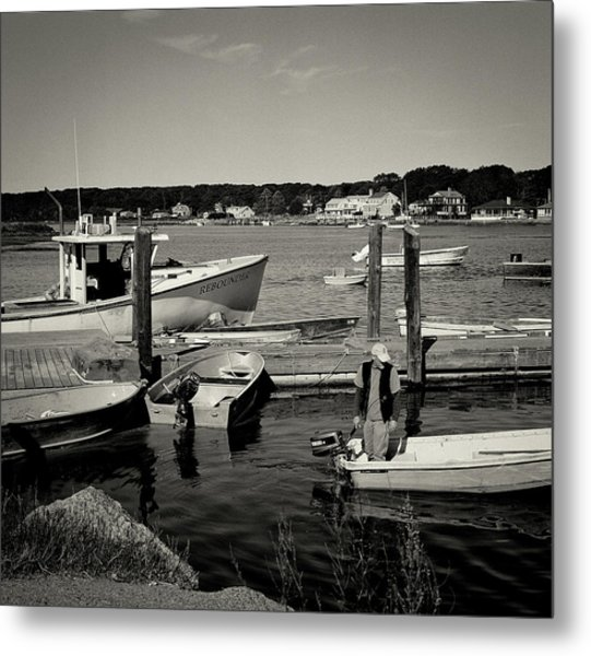 Dock Work Metal Print