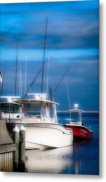 Docked And Quiet Metal Print