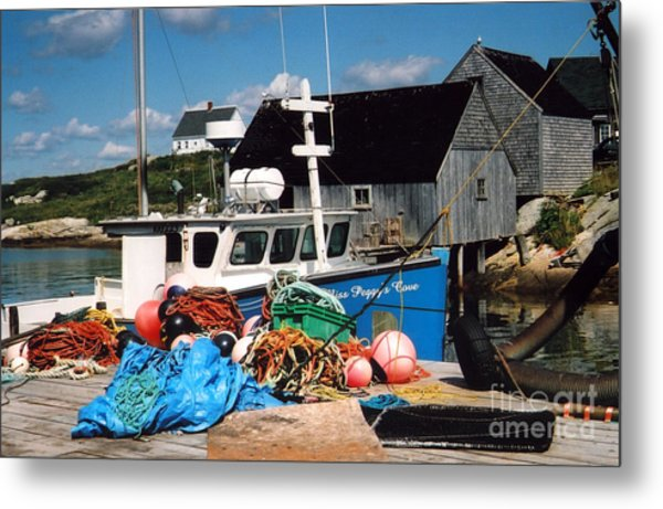 Docked Metal Print by Andrea Simon